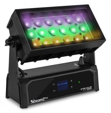 Beamz starcolor270z washzoom 18x15w 4in1 rgbw ip65 wrls.dmx