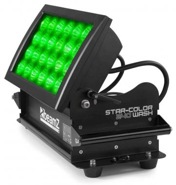 Beamz starcolor240w wash light 24x10w 4in1 rgba ip66 dmx