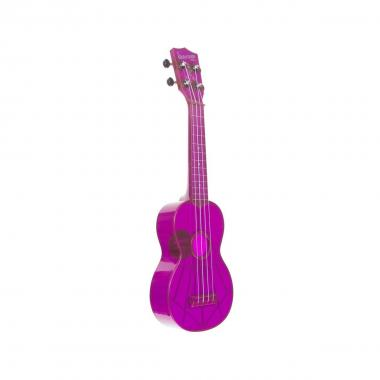 KALA KA-SWF-PL - Ukulele soprano Waterman - Fluorescent Purple Grape - c/borsa