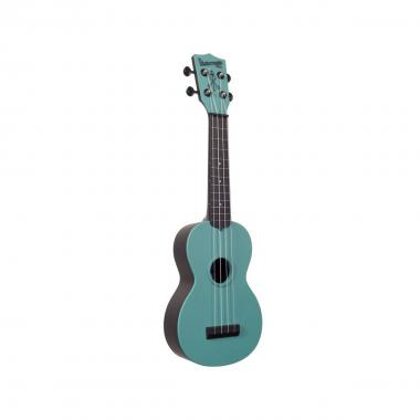 KALA KA-SWG-BL - Ukulele soprano Waterman - Glow-in-the-Dark Aqua matte - c/borsa