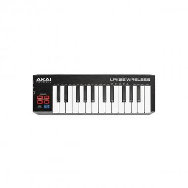Akai professional lpk25 wireless: mini tastiera midi a 2 ottave bluetooth e usb