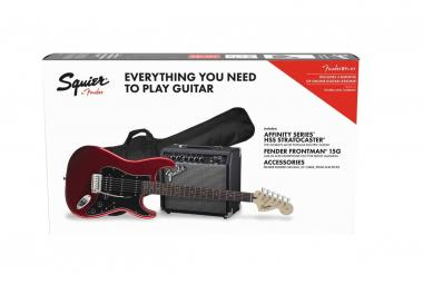Fender squier affinity pack stratocaster hss candy apple red